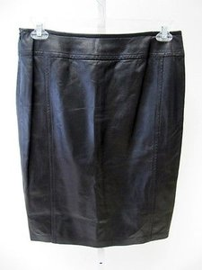 Michael Kors Leather Pencil Skirt Black