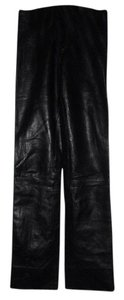 Daryl K Leather Leggings Designer Straight Pants Black
