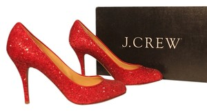 J.Crew metallic cherry Pumps