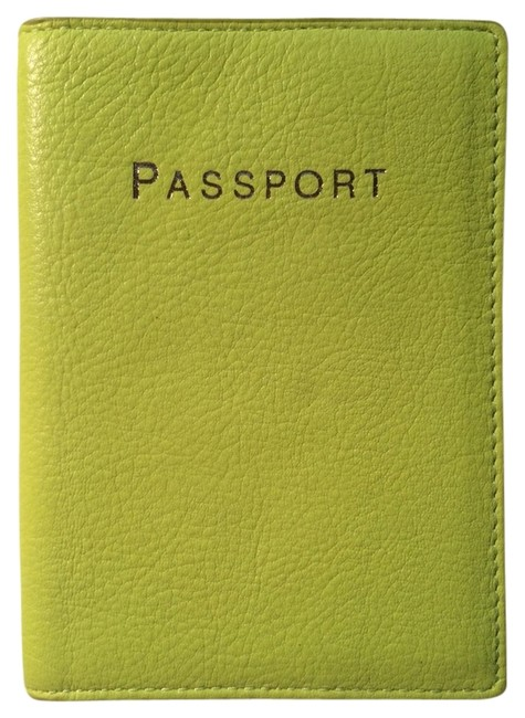 Item - Neon Yellow-green Passport Cover Wallet