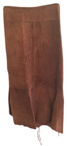 illia Skirt Brown Leather