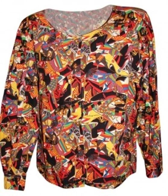 Salvatore Ferragamo Top Bold Colorful