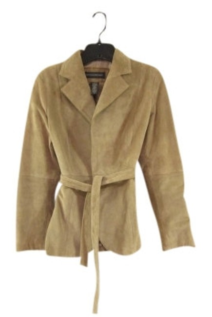 Preload https://item2.tradesy.com/images/banana-republic-camel-belted-suede-leather-jacket-size-4-s-7346-0-0.jpg?width=400&height=650