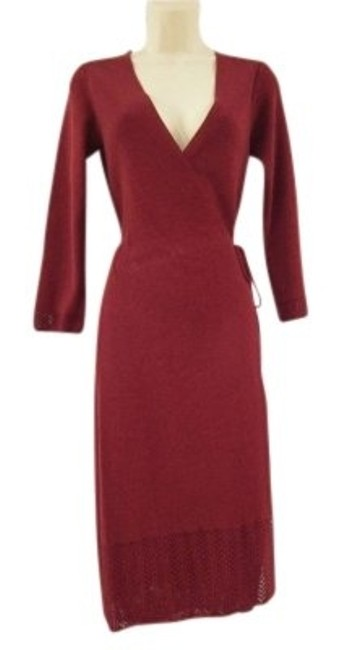 Preload https://img-static.tradesy.com/item/7348/banana-republic-bordeaux-red-knitted-wrap-sweater-lace-detailing-knee-length-workoffice-dress-size-2-0-0-650-650.jpg