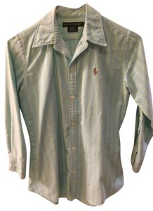 Ralph Lauren Button Down Shirt Mint Pastel