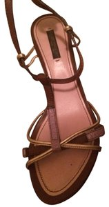 Louis Vuitton Multi Purple/ Tan Sandals