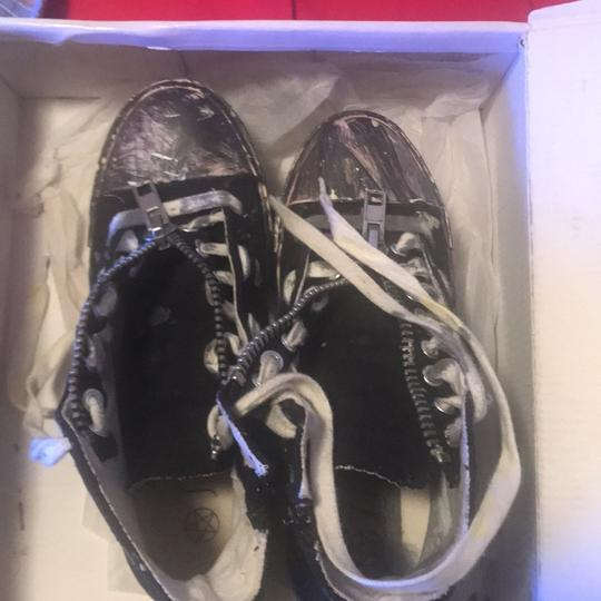 Urban Outfitters Black With Paint Platforms