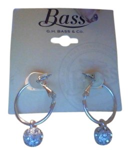 Bass SIlver Earring Hoops w/Decorative Ball from BASS & CO