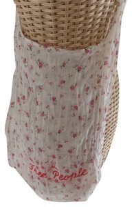 Free People Tote in Pink & Ivory