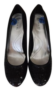 Tahari Black Sequin Pumps