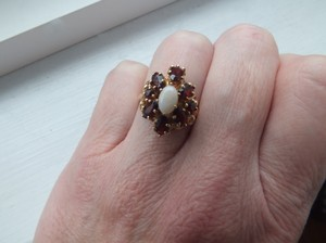 Vintage Garnet/Opal Cocktail Ring