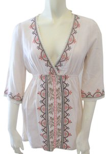 Ellison Embroidered Embellished Boho Floral Tunic
