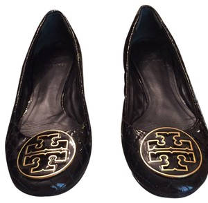 643630dda4b2 Tory Burch Black patent Flats - item med img. Tory Burch. Black Patent Quinn  Leather Quilted Ballet Flats. Size  US 8.5 Regular ...