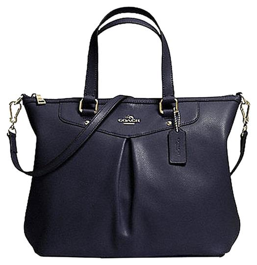 Preload https://item3.tradesy.com/images/coach-gold-hardware-navy-leather-shoulder-bag-7356262-0-1.jpg?width=440&height=440