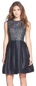 Monique Lhuillier Embellished Flare Dress