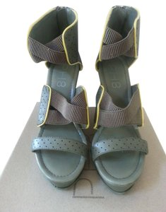Bebe Sport Ph8 Olive with yellow trim Wedges