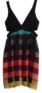 LaROK Plaid Punk Going Out Cocktail Cut Out Dress