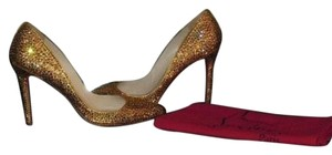 Christian Louboutin So Kate Pigalle 120mm Gold Pumps
