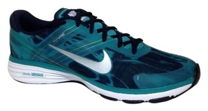 Nike Women Trail Running Gym Workout Blue Green White Athletic
