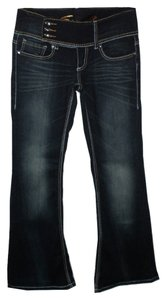 7 For All Mankind Rhinestone Flare Leg Jeans-Dark Rinse