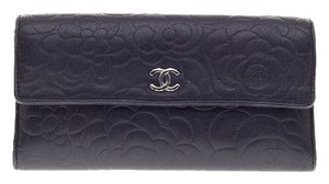 Chanel Flap Wallet Camellia Lambskin Clutch