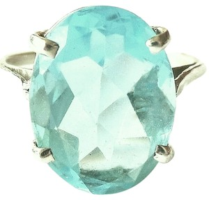 Large 6.0ctw Genuine Sky Blue Topaz 925 Sterling Silver Ring 8