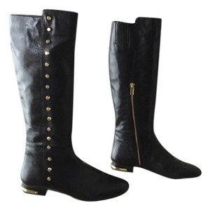 Michael Kors Shiny black with gold studs Boots