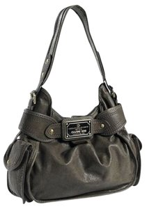 Gianni Bini Leather Grey Pockets Hobo Bag