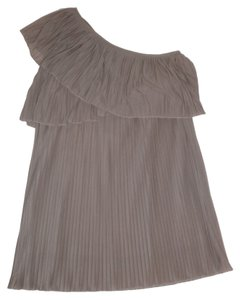 MM Couture Pleated One Taupe Dress