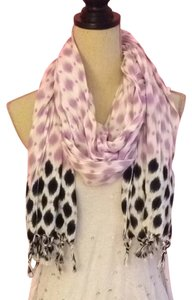 Urban Outfitters White, Lavender and Navy Blue Scarf