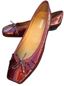 Geox Comfortable Patent Leather ruby red Flats