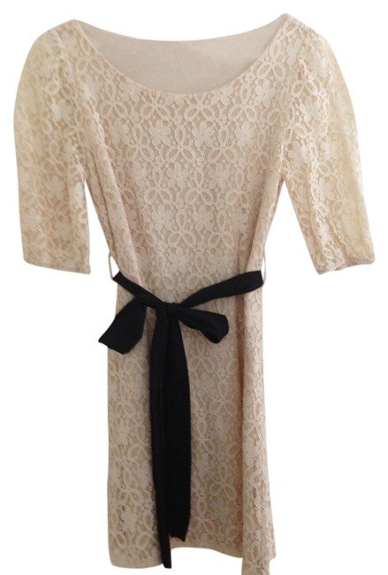 Item - Off White Lace Above Knee Cocktail Dress Size 4 (S)