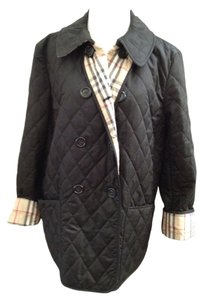 Burberry London Quilted Doble Breasted black Jacket