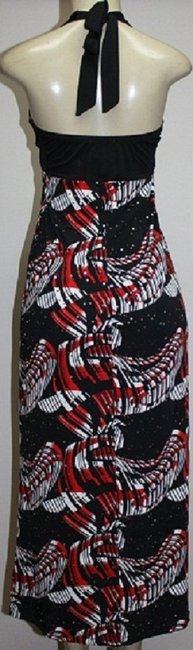 BLACK/WHITE-RED PRINT Maxi Dress by HALO Heart & Soul