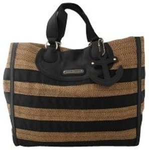 Juicy Couture Tote in Black and tan