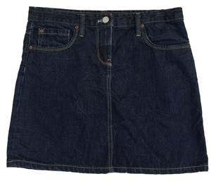 J.Crew Slight Distressing Mini Skirt BLUE