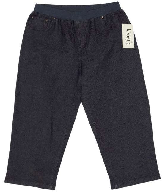 Kenneth Too Capri/Cropped Denim-Dark Rinse