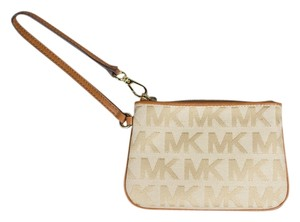 Michael Kors Wristlet in Brown/ Beige
