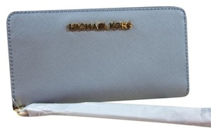 Michael Kors Michael Kors leather phone Wallet card holder Pale Blue Coin Purse