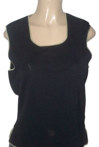BCBGMAXAZRIA Top Black/Moss Green