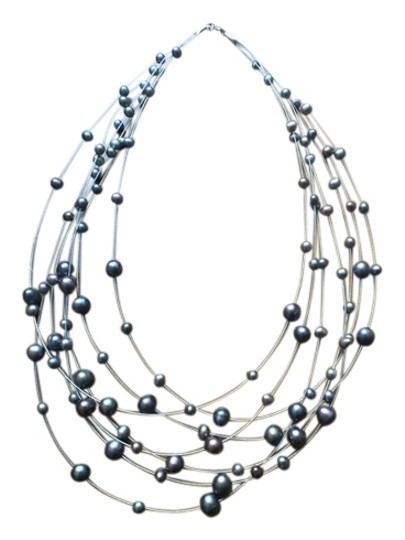 Preload https://img-static.tradesy.com/item/736240/bluegray-freshwater-pearls-necklace-0-0-540-540.jpg