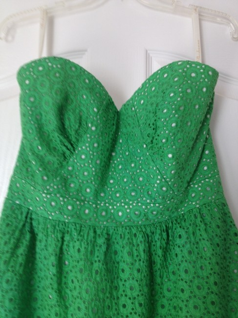 Shoshanna short dress Kelly Green Strapless on Tradesy