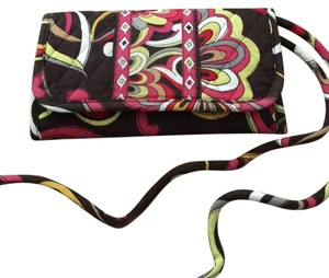 Vera Bradley Red Brown Clutch