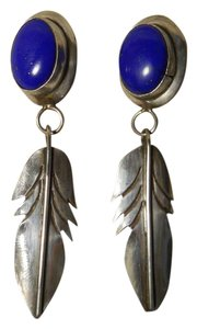 Other Vintage sterling silver & lapis leaf
