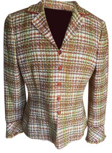 Kasper Suit Jacket Velvet Piping Jacket rust, green, white Blazer