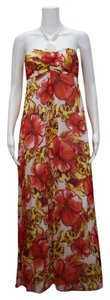 Multi-color red/yellow/ Maxi Dress by Xhilaration Hawaii Maxi Floral