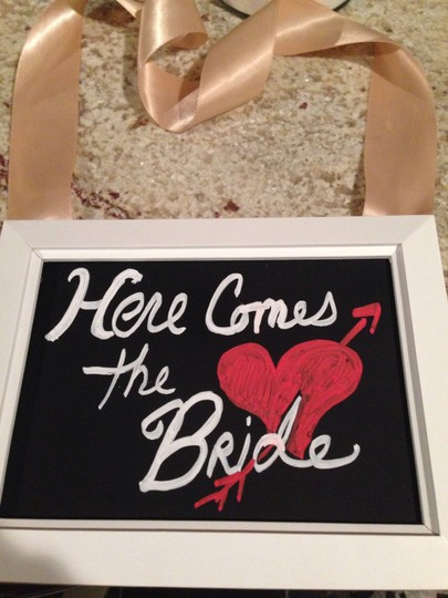 Here Comes The Bride Sign Ceremony Decoration