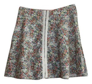 Topshop London Print Grunge Mini Skirt Floral