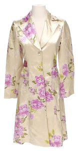 Banana Republic Floral Silk Linen Trench Coat