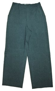 Dolce&Gabbana Vintage Pockets Double Hook & Eye Hidden Button Tab Closure Wide Leg Pants Dark Grey